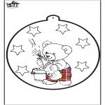 Disegni da colorare Temi - Capodanno - Disegno da bucherellare