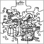 Disegni da colorare Temi - Capodanno - Puzzle