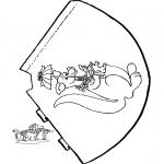 Lavori manuali - Cappello canguro
