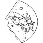 Lavori manuali - Cappello con farfalla 1