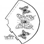 Lavori manuali - Cappello con farfalla 2