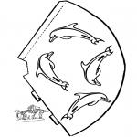 Lavori manuali - Cappello delfino
