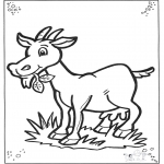 Disegni da colorare  Animali - Capra 2