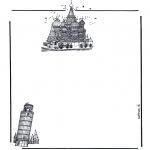 Lavori manuali - Carta da lettere ' monumenti