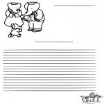 Lavori manuali - Carta da lettere Babar