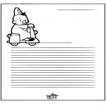 Lavori manuali - Carta da lettere Bumba