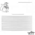 Lavori manuali - Carta da lettere canguro