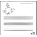 Lavori manuali - Carta da lettere Cenerentola