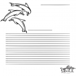 Lavori manuali - Carta da lettere delfino