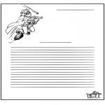 Lavori manuali - Carta da lettere Harry Potter