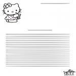 Lavori manuali - Carta da lettere - Hello Kitty