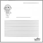 Lavori manuali - Carta da lettere - ragazza