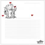 Disegni da colorare Temi - Carta da lettere San Valentino