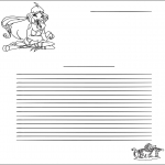 Lavori manuali - Carta da lettere Winx