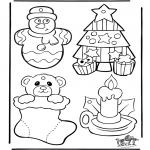 Disegni da colorare Natale - Cartelli per maniglia - Natale 1