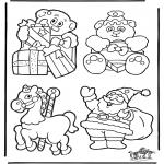 Disegni da colorare Natale - Cartelli per maniglia - Natale 2