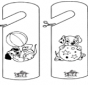 Cartello per maniglia 101 Dalmati