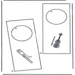 Lavori manuali - Cartello per maniglia 3