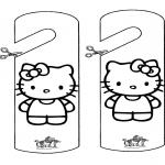 Lavori manuali - Cartello per maniglia Kitty