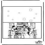 Lavori manuali - Cartolina battesimo
