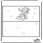 Lavori manuali - Cartolina - bebè 3