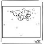 Lavori manuali - Cartolina - bebè 4
