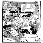Lavori manuali - Cartolina bebè