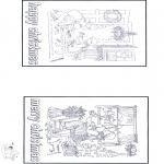 Disegni da colorare Natale - Cartolina - Buon Natale 1