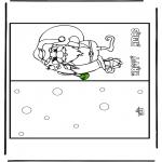 Disegni da colorare Natale - Cartolina - Buon Natale 16