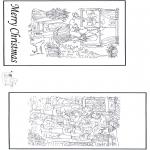 Disegni da colorare Natale - Cartolina - Buon Natale 2