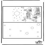 Disegni da colorare Natale - Cartolina - Buon Natale 7