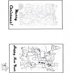 Disegni da colorare Natale - Cartolina Buon Natale