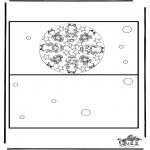 Lavori manuali - Cartolina di Natale 3