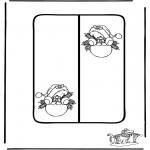 Lavori manuali - Cartolina di Natale 8