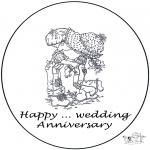Disegni da colorare Temi - Cartolina per i .. anni di matrimonio