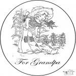 Lavori manuali - Cartolina per il nonno