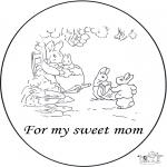 Lavori manuali - Cartolina per una mamma