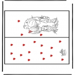 Lavori manuali - Cartolina San Valentino 1