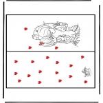 Disegni da colorare Temi - Cartolina - San Valentino 1