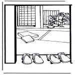 Disegni da colorare Vari temi - Casa giapponese