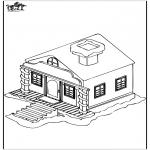 Disegni da colorare Inverno - Casa nella neve 1