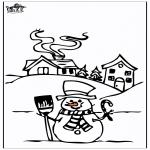 Disegni da colorare Inverno - Casa nella neve 4