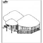 Disegni da colorare Vari temi - Casa sulla spiaggia