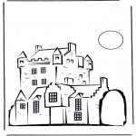 Disegni da colorare Vari temi - Castello 2