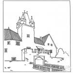 Disegni da colorare Vari temi - Castello 3