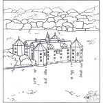 Disegni da colorare Vari temi - Castello 4