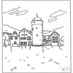 Disegni da colorare Vari temi - Castello 5