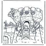 Disegni da colorare Vari temi - Castello