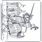 Disegni da colorare Vari temi - Cavaliere 1