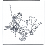 Disegni da colorare Vari temi - Cavaliere 2